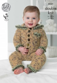 King Cole 4231 Baby Set in Cuddles DK and Cuddles Multi DK  (downloadable PDF)