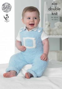 King Cole 4232 Baby Set in Cuddles DK and Cuddles Multi DK  (downloadable PDF)