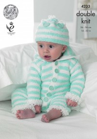 King Cole 4233 Baby Set in Cuddles DK and Big Value Baby DK  (downloadable PDF)