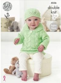 King Cole 4556 Baby Set in Baby Glitz DK (leaflet)