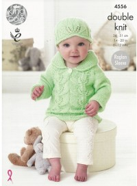 King Cole 4556 Baby Set in Baby Glitz DK (downloadable PDF)