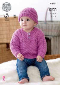 King Cole 4645 Sweater, Trousers, Hat and Mittens in Comfort Aran (leaflet)