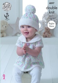 King Cole 4897 Baby Set in Cherish Dash DK and Cherished DK (leaflet)
