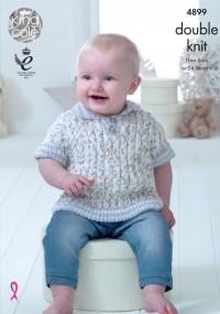 King Cole 4899 Baby Set in Cherish Dash DK and Cherished DK (leaflet)