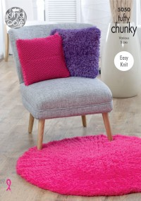 King Cole 5050 Blankets, Cushions and Rugs in Tufty Chunky (downloadable PDF)