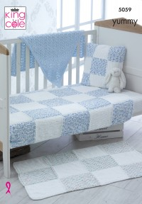 King Cole 5059 Blankets, Rug, Cushion and Shawl in Yummy (leaflet)