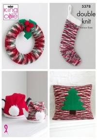 King Cole 5378 Christmas Accessories in Glitz DK (leaflet)