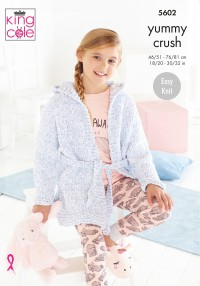 King Cole 5602 Dressing Gowns in Yummy Crush (leaflet)