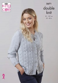 King Cole 5671 Cardigan and Sweater in Merino Blend DK (leaflet)