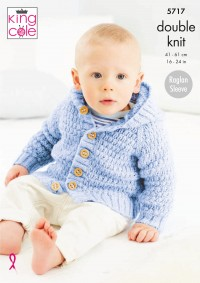 King Cole 5717 Textured Coats in Big Value Baby DK with a Twist (leaflet)
