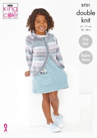 King Cole 5731 Girls Cardigans in Island Beaches (leaflet)