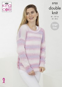 King Cole 5732 Sweater and Cardigan in Beaches DK (leaflet)