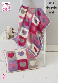 King Cole 5734 Blankets and Cushion Covers in Bamboo Cotton DK (leaflet)