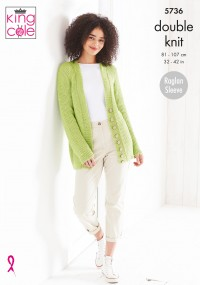 King Cole 5736 Sweater and Cardigan in Cottonsoft DK (leaflet)