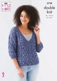 King Cole 5738 Ladies Sweaters in Island Beaches (leaflet)