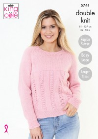 King Cole 5741 Ladies Cardigan & Sweater in Subtle Drifter DK (leaflet)