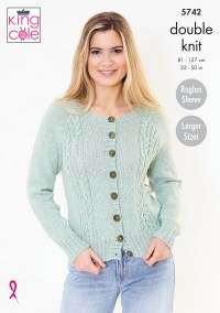 King Cole 5742 Cardigan and Sweater in Subtle Drifter DK (leaflet)