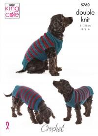 King Cole 5760 Dog Coats in Pricewise DK (leaflet)