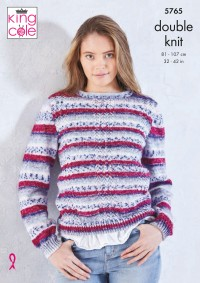 King Cole 5765 Cardigan and Sweater in Splash DK (leaflet)