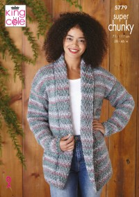 King Cole 5779 Jacket and Sweater in Christmas Super Chunky (leaflet)