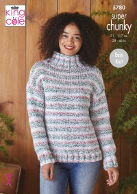 King Cole 5780 Cardigan and Sweater in Christmas Super Chunky (leaflet)