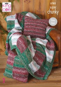 King Cole 5782 Blanket, Cushions and Bed Runner in Christmas Super Chunky (leaflet)