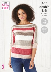 King Cole 5783 Sweater and Top in Harvest DK (leaflet)