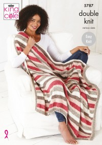 King Cole 5787 Bed Runners and Blankets in Harvest DK (leaflet)