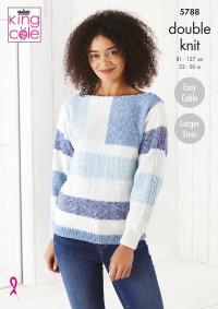 King Cole 5788 Sweater and Jacket in Harvest DK (leaflet)