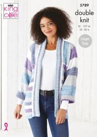 King Cole 5789 Sweater and Jacket in Harvest DK (leaflet)