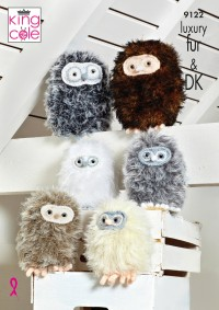 King Cole 9122 Baby Owls in Dollymix DK and Luxury Fur (leaflet)