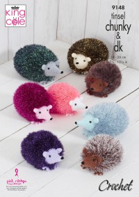 King Cole 9148 Hedgehogs in Dollymix DK and Tinsel Chunky (leaflet)