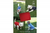King Cole K9 Dog Coats and Blanket in King Cole DK and Aran (downloadable PDF)