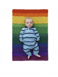Lion Brand Checkered Baby Afghan In Mandala (downloadable PDF)
