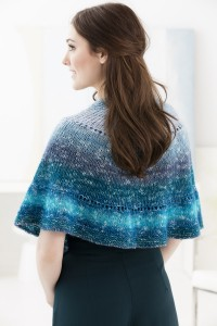 Lion Brand Easy Half Circle Shawl in Shawl in a Ball (downloadable PDF)