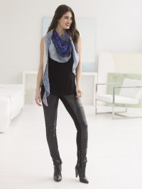 Lion Brand Easy Shaped Shawl in Shawl in a Ball  (downloadable PDF)