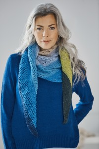 Lion Brand Easy Triangle Shawl in Cupcake (downloadable PDF)