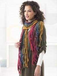 Lion Brand Crochet Mesh Scarf in Mandala (downloadable PDF)