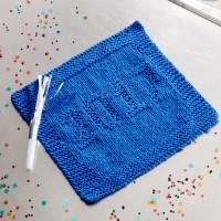 Sugar 'n Cream - 2017 Knit Dishcloth in Solids (downloadable PDF)
