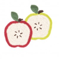 Sugar 'n Cream - Apple a Day Dishcloth in Solids (downloadable PDF)