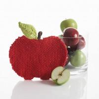 Sugar 'n Cream - Apple Dishcloth in Solids (downloadable PDF)