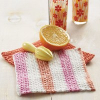 Sugar 'n Cream - Basic Crochet Dishcloth in Solids or Stripes (downloadable PDF)