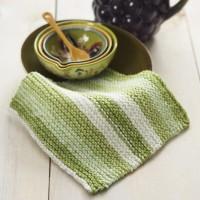 Sugar 'n Cream - Basic Knit Dishcloth in Stripes (downloadable PDF)