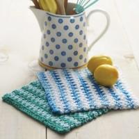 Sugar 'n Cream - Basic Striped Dishcloth in Solids (downloadable PDF)