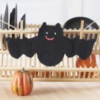 Sugar 'n Cream - Bat Dishcloth in Solids (downloadable PDF)