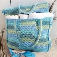 Sugar 'n Cream - Beach Bag with Mat in Stripes (downloadable PDF)