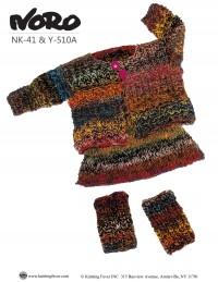 Noro - Girl's Cardigan, Skirt and Legwarmers in Kureyon (downloadable PDF)
