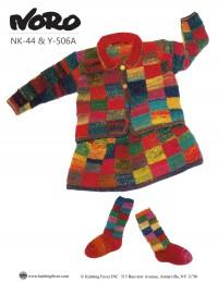 Noro - Girl's Cardigan, Skirt and Socks in Kureyon (downloadable PDF)