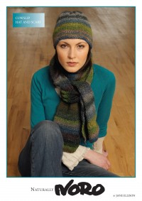 Noro - Cowslip Hat and Scarf in Silk Garden (downloadable PDF)