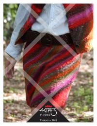 Noro - Knitted Skirt in Kureyon (downloadable PDF)